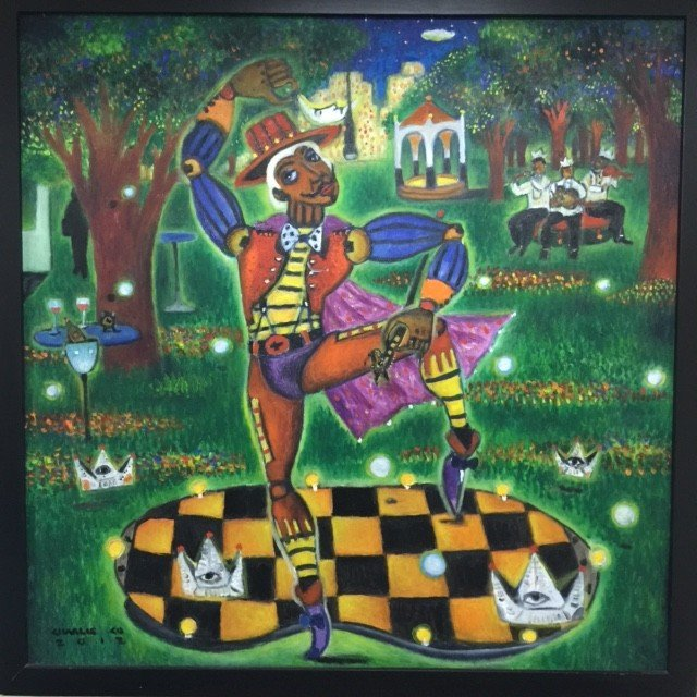 """Dancing in the Park"" (Oil on Canvas, 36 inches x 36 inches, 2012) by Charlie Co. CONTRIBUTED IMAGE"