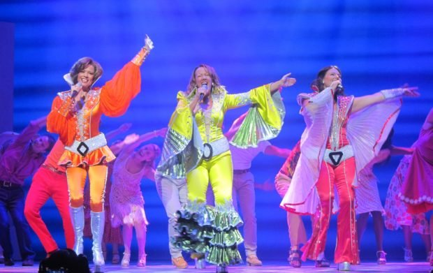 "The Dynamos—Tanya (Helen Anker), Donna (Shona White) and Rosie (Nicky Swift)—have some of the best moments in ""Mamma Mia!"" The production tour's Manila run, held at The Theatre at Solaire, has remaining performances this weekend. PHOTOS BY FRAN KATIGBAK"