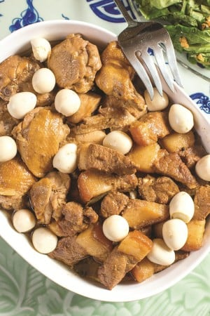 CHICKEN-PORK Adobo with Quail Eggs